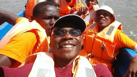Emmanuel selfie on boat